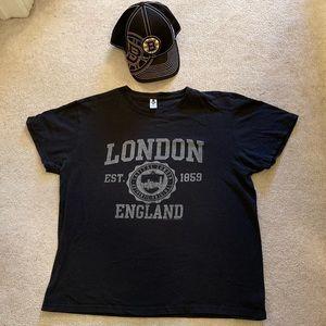 Bundle: t-shirt & hat.